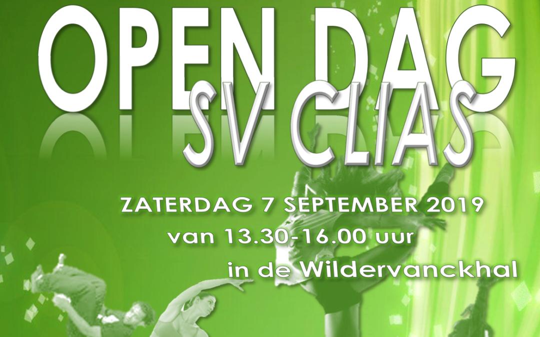 Open dag SV Clias 7 september a.s.